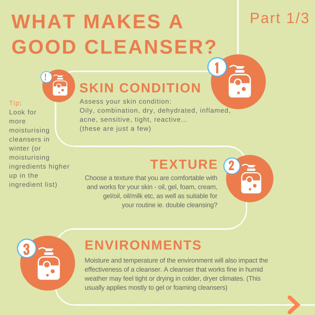 What makes a good cleanser 1 skin condition texture environments