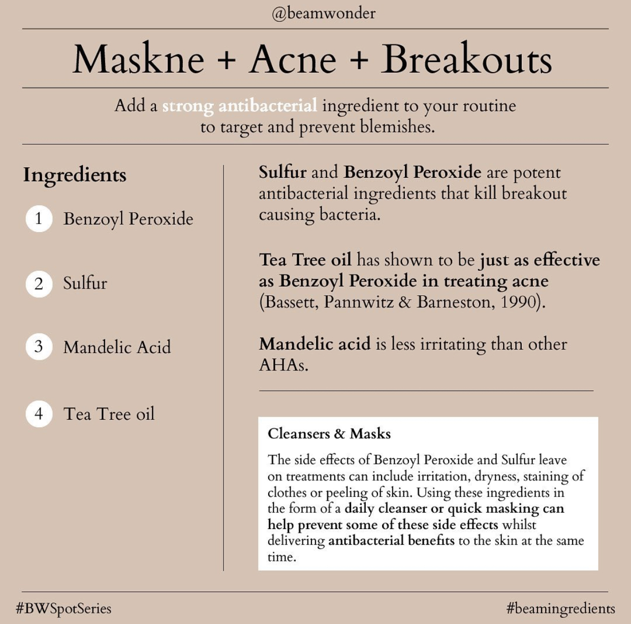 Beauty routine for breakouts
