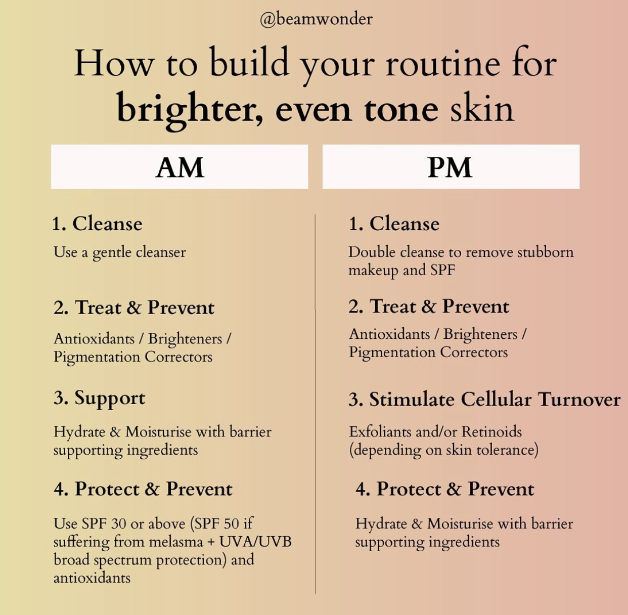 How to build your routine for brighter even tone skin
